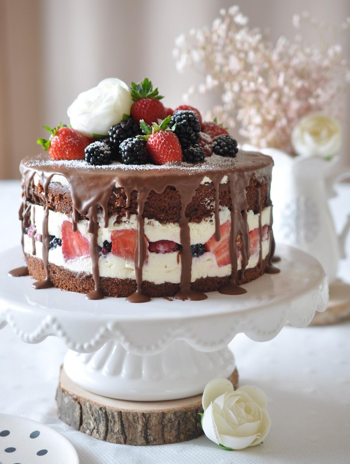 Kuchen Dekorieren Schokolade Schoko Marzipan Kuchen Rezept