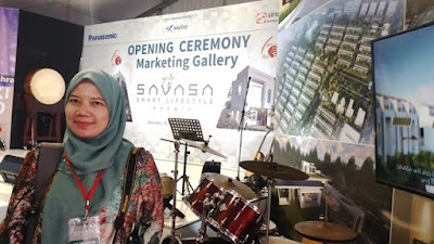 opening ceremony marketing gallery savasa deltamas nurul sufitri blogger sinar mas land panasonic sojitz