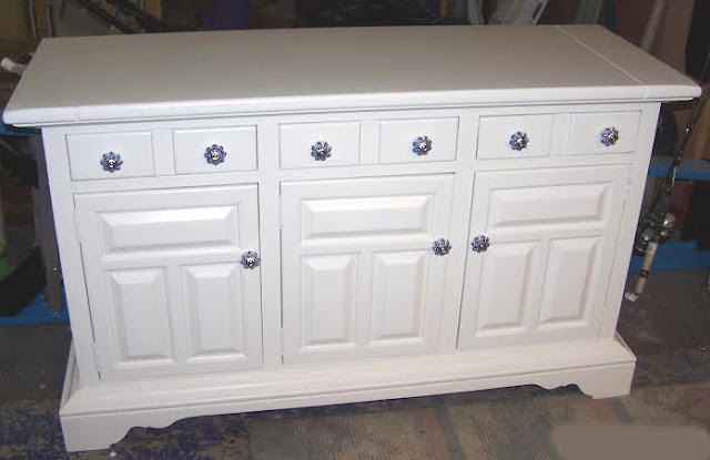 buffet with hand painted