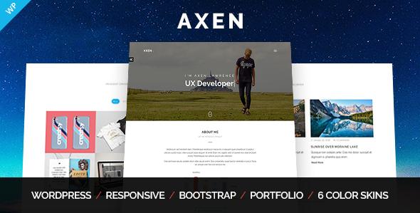 Axen - Personal Portfolio WordPress Theme