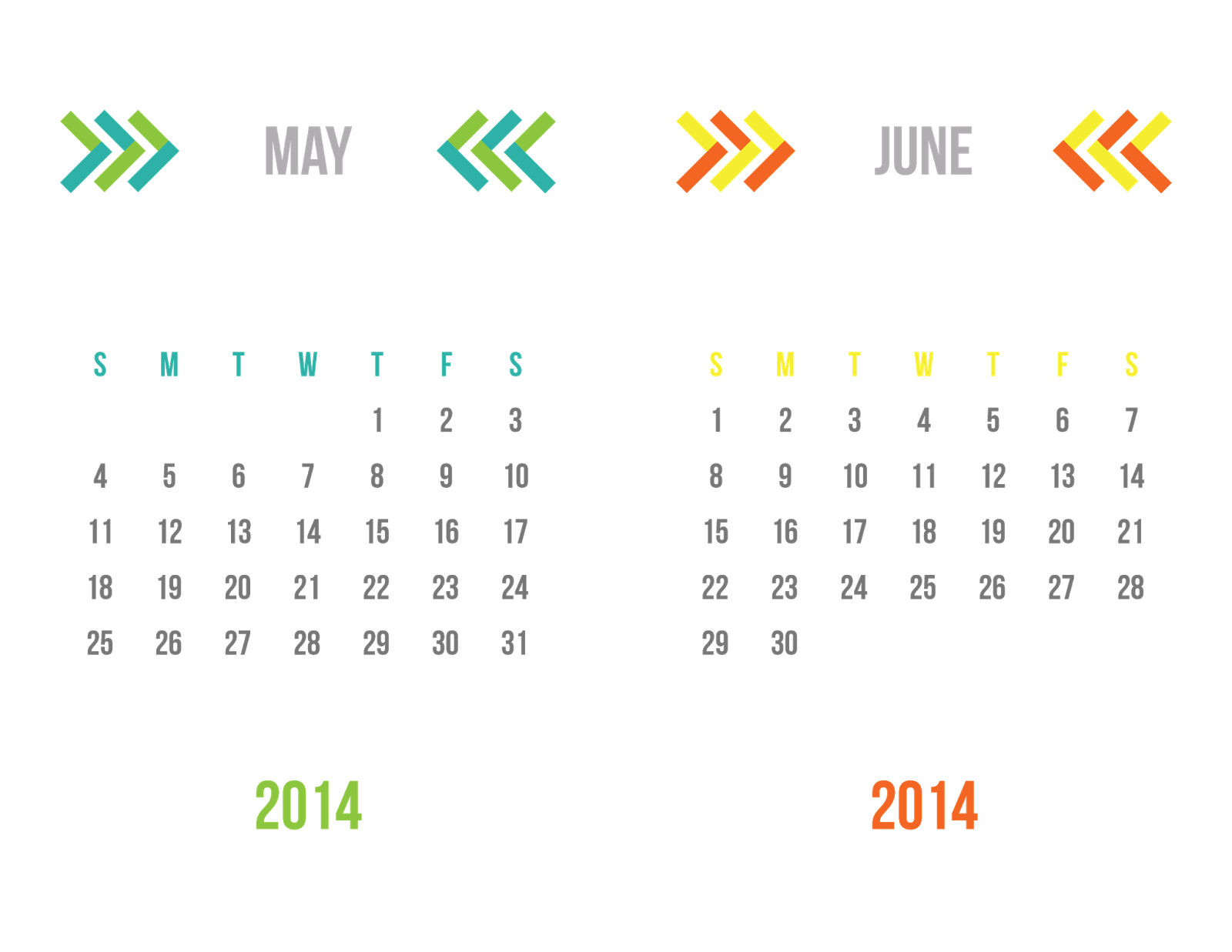 2014 Two-Tone Chevron Desk Calendar {31 Days: Day 16}