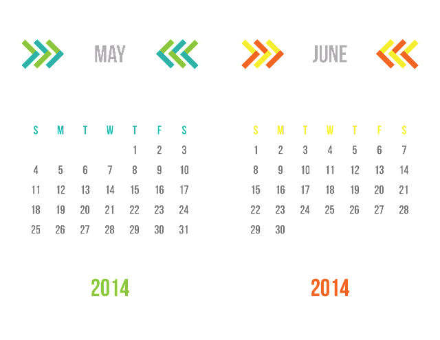 2014 Two-Tone Chevron Desk Calendar {31 Days: Day 16}