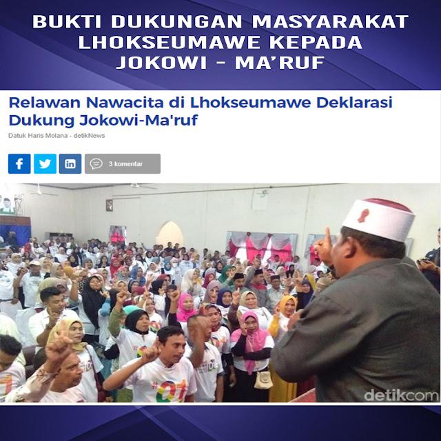 Relawan Nawacita di Lhokseumawe Deklarasi Dukung Jokowi-Ma'ruf