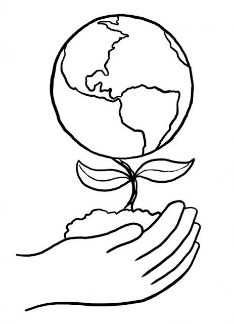 Dibujo del día de la tierra