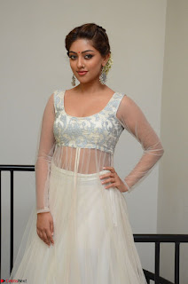 Anu Emmanuel in a Transparent White Choli Cream Ghagra Stunning Pics 014.JPG