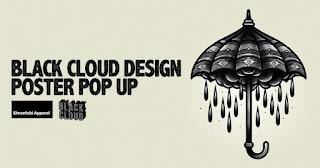 Poster Pop Up Black Cloud Design