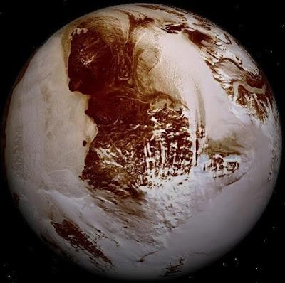 Imagen del planeta Plutón a color