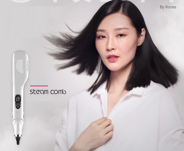 lược chải thẳng tóc hơi nước