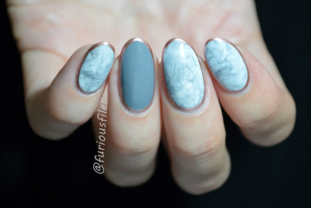 marble nails, stamper marble, metallic border