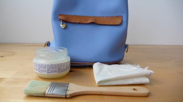 Renueva un bolso de cuero con chalk paint