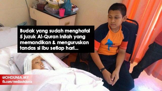 2 Bulan Tak Sekolah Kerana Jaga Ibu, Ramai Sebak Dengan Ketabahan Adik Ini...