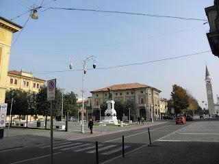 The Piazza Caduti in Mogliano Veneto