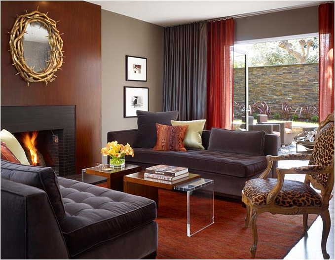 Key Interiors by Shinay Masculine Living rooms