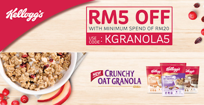 Kellogg's Malaysia Lazada Voucher Code Discount Offer Promo