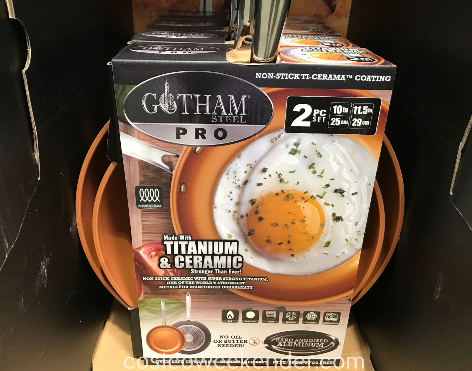 Cook healthier meals in the kitchen with Gotham Steel Pro Ceramic Non-Stick Frying Pans (2 piece set)