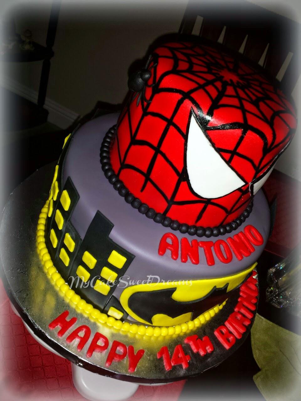coloring pages batman spiderman cakes - photo#20