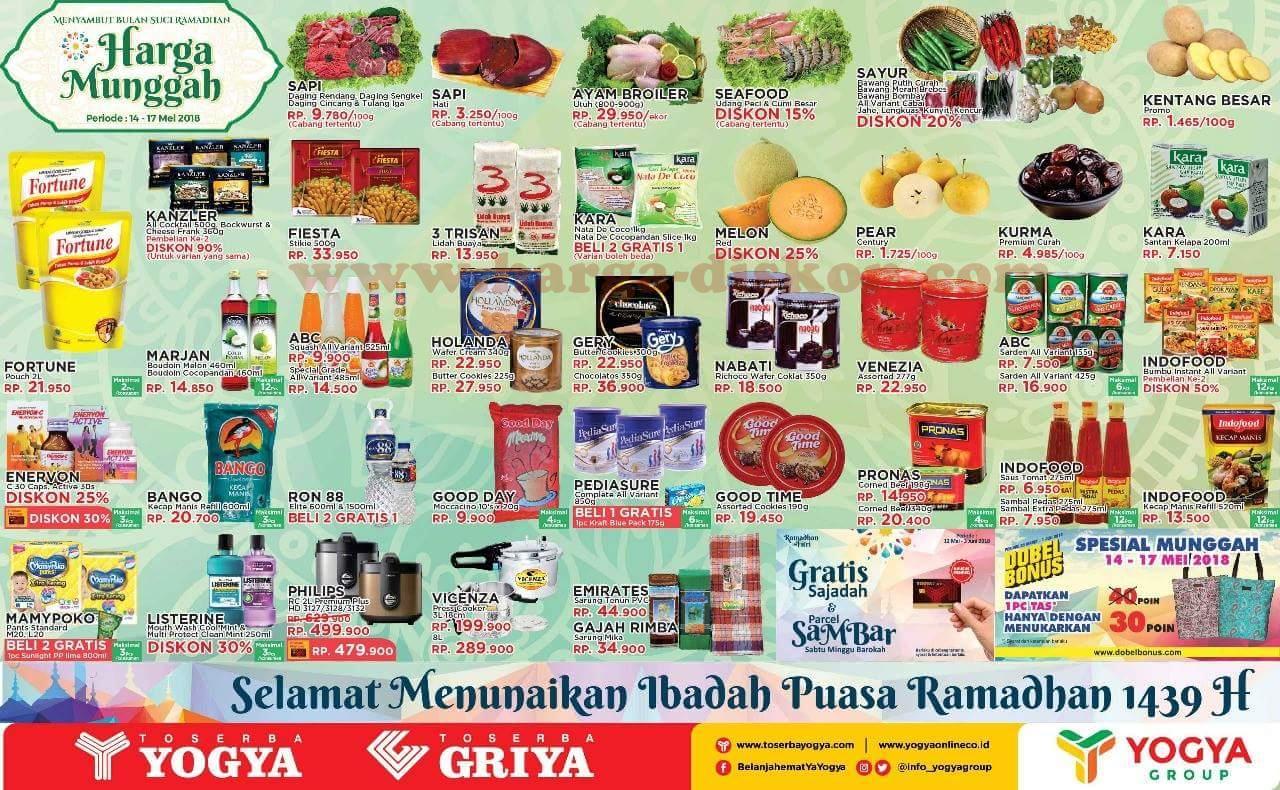 Harga Promo Toserba Yogya Awal Pekan Weekday 14 17 Mei 2018 News Kecap Manis Abc Reffill 520ml Katalog Diskon