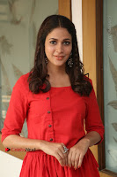 Actress Lavanya Tripathi Latest Pos in Red Dress at Radha Movie Success Meet .COM 0196.JPG