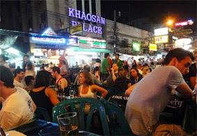 Khao San Road at night and budget travel