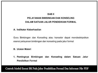 Contoh Modul Esensi BK Pada Jalur Pendidikan Formal Dan Informal File PDF