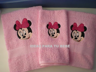 set toallas minnie