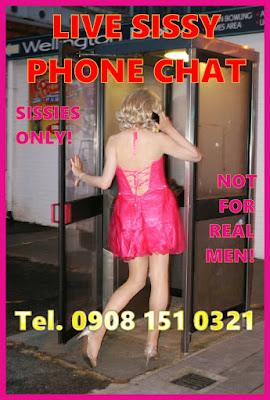 Sissy transvestite phone chat