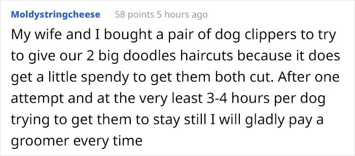 Hilarious Poster Explains To Customers Why A Groomer's Services Cost More Than A Hairdresser's