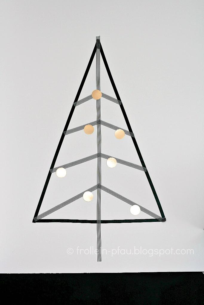Weihnachtliche Mitbringsel und kleine Geschenkideen, DIY, Blogger, selbstgemachte Weihnachtsdeko, alternativer Weihnachtsbaum, basteln mit Masking Tape Washi Tape