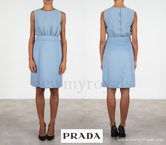 Crown Princess Mette-Marit wore Prada Light Angora And Cady Dress