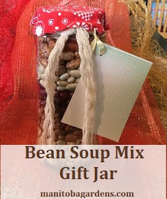Bean soup mix gift jar