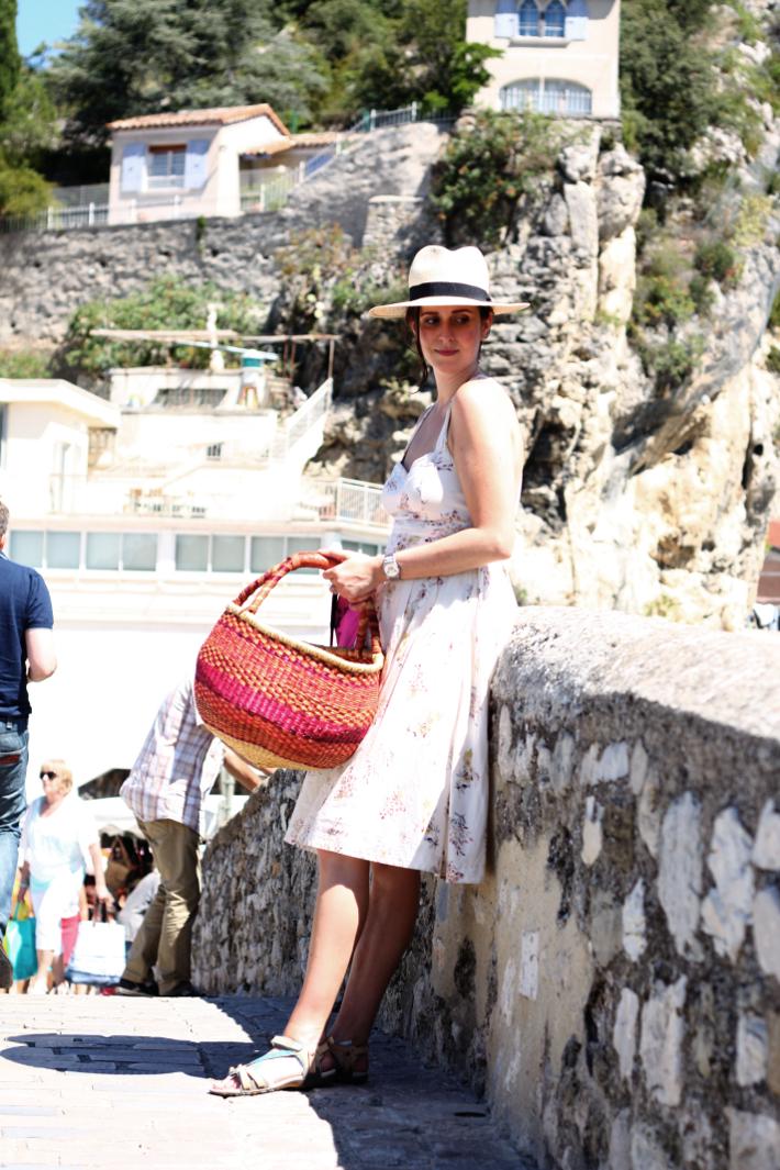 outfit panama hat sundress nyons