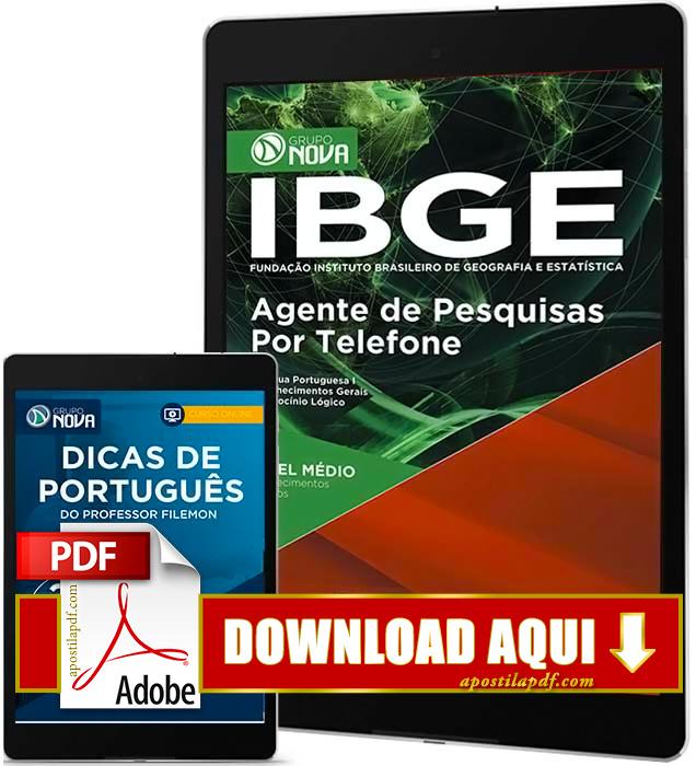 Apostila IBGE 2016 Agente de Pesquisas por Telefone PDF Download