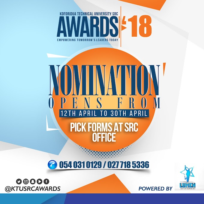 Nominations open for Koforidua Tech. Uni. SRC Awards '18