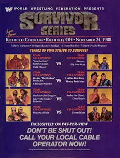 WWE SURVIVOR SERIES 1988 - EVENT POSTER