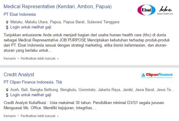 Lowongan Kerja PT Eisai Indonesia Raja Ampat Terbaru 2019.