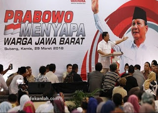 Saatnya Satukan Suara Memberikan Amanah Ke Prabowo Subianto Sebagai Presiden 2019
