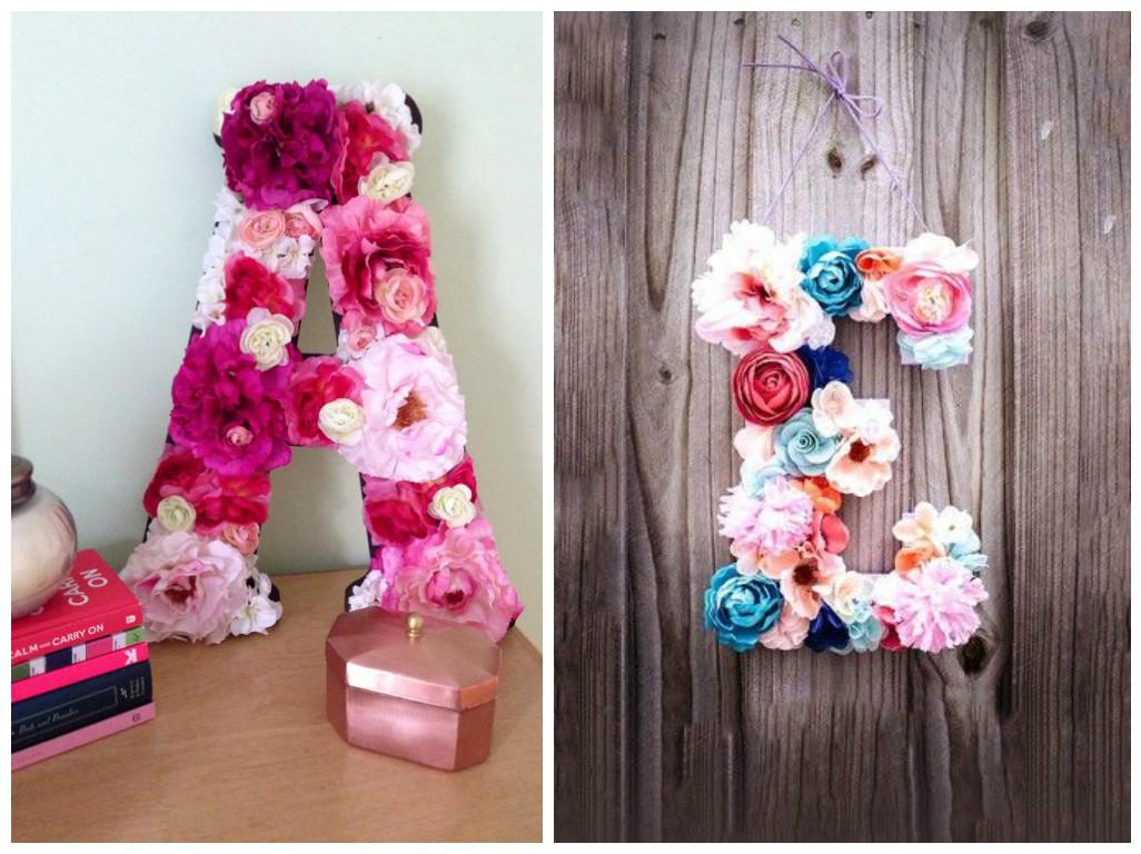 12 ideas de c mo decorar letras y n meros para cumplea os for Puertas decoradas con flores de papel