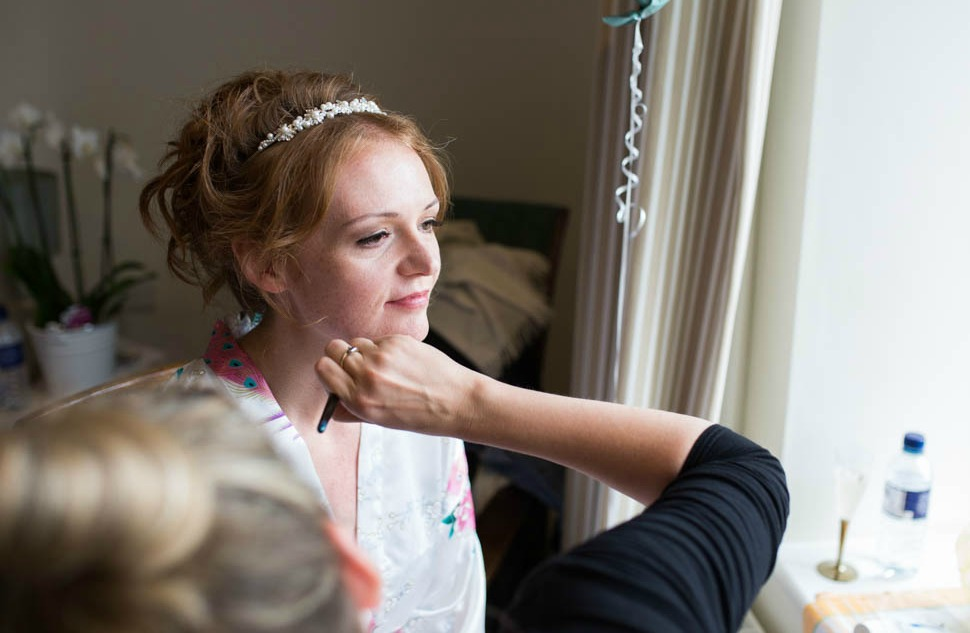 Wedding Day Makeup for a North East Bride with Pins, Petals and Powder