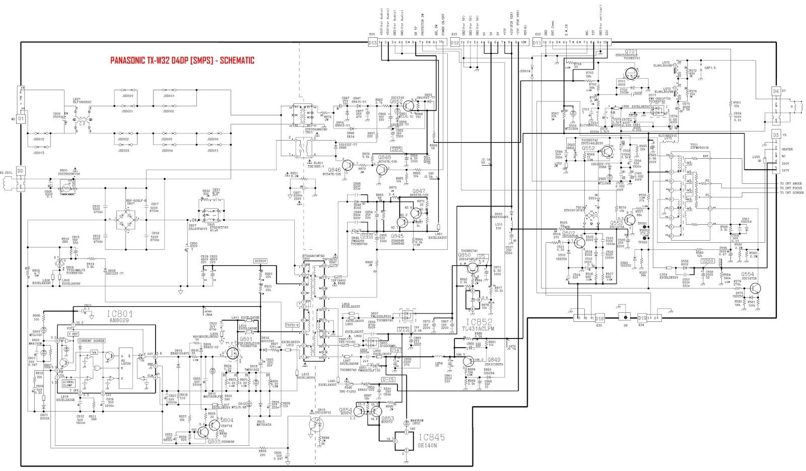 Panasonic Tv Wiring Diagrams Philips TV Wiring Diagram