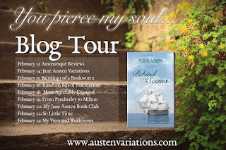 Persuasion - Behind the Scenes - Blog Tour Schedule