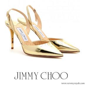 Queen Maxima wore Jimmy Choo Tilly Metallic Pumps