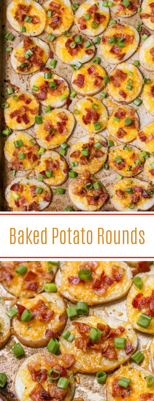Loaded Baked Potato Rounds #appetizer #partyfood