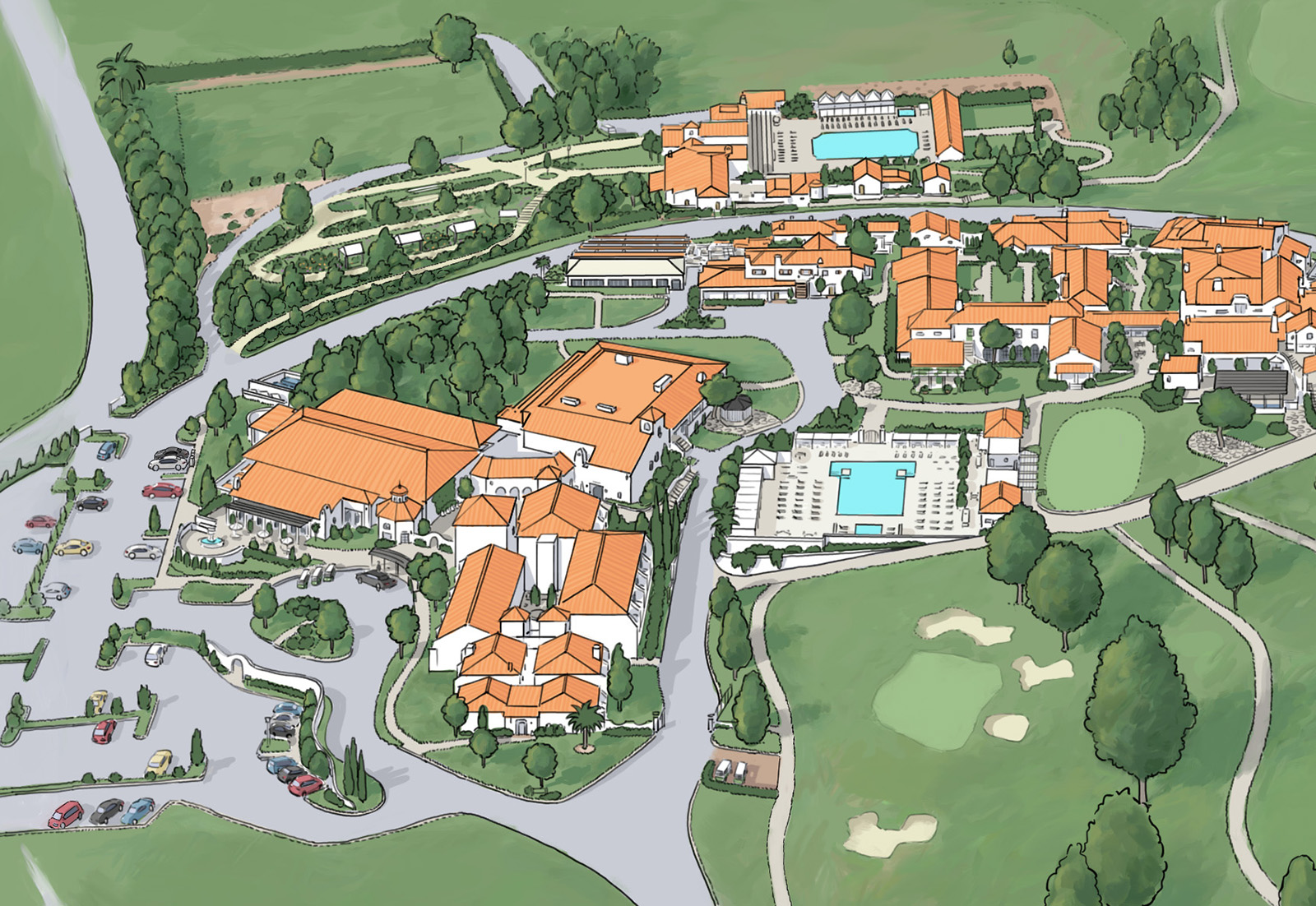 Rooms: Isometric Map For Ojai Valley Inn And Spa (2015