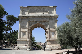 The Arch of Titus in Rome, built to commemorate the  victory of Titus in capturing Jerusalem