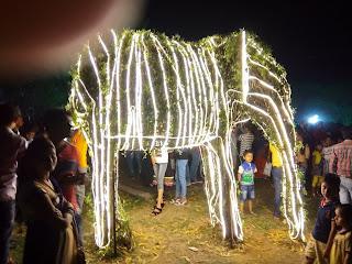 Jamshedpur Jubilee Park 3rd March Lighting 2018 Jubli Park, Light  founders day elephant