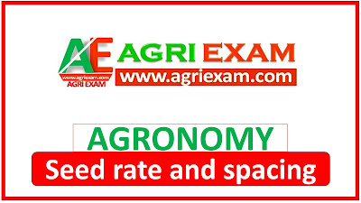 Crops Seed rate and Spacing