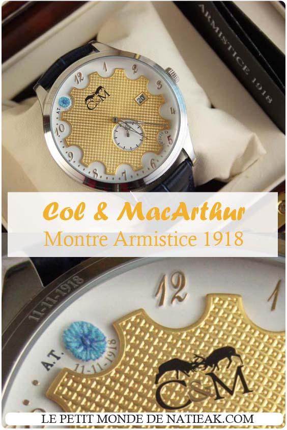 Montre Armistice 11 novembre 1918 : l'hommage intemporel de Col & MacArthur