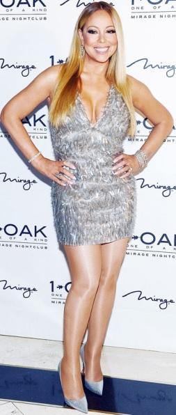 Foto de Mariah Carey con bello vestido