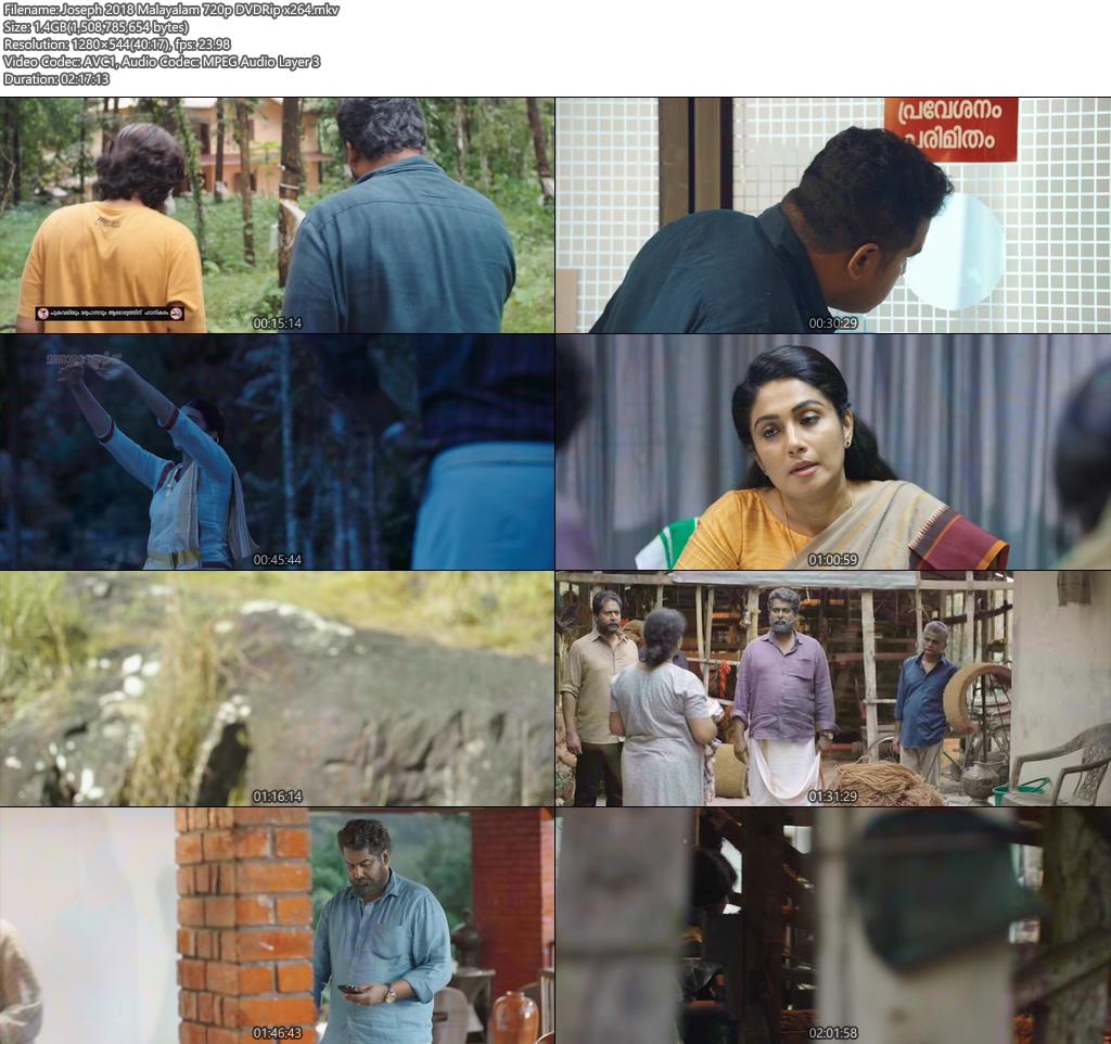 Joseph 2018 Malayalam 720p Movie DVDRip x264 | 480p 300MB | 100MB HEVC Screenshot