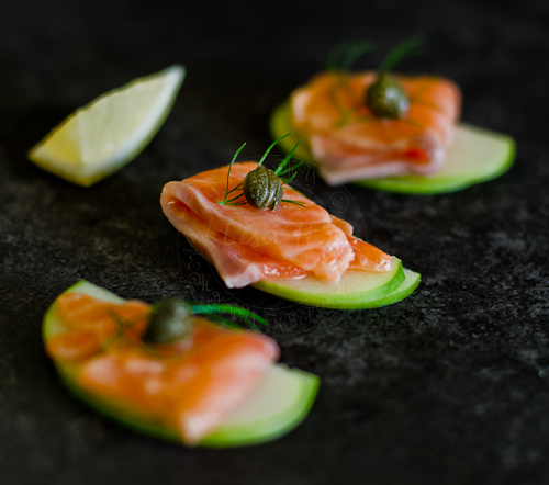 Best recipe of Apple, Salmon and Capers hors d'oeuvres